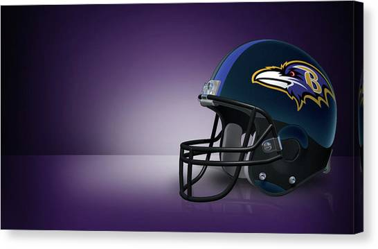 Football Teams Canvas Print - Baltimore Ravens by Maye Loeser