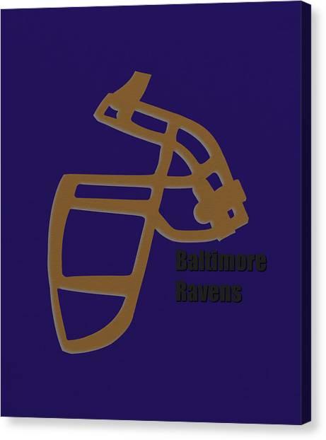 Baltimore Ravens Canvas Print - Baltimore Ravens Retro by Joe Hamilton