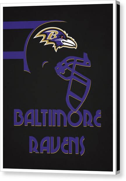 Baltimore Ravens Canvas Print - Baltimore Ravens Team Vintage Art by Joe Hamilton