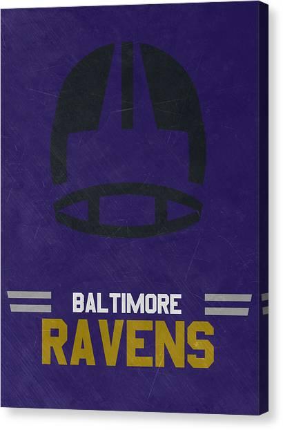 Baltimore Ravens Canvas Print - Baltimore Ravens Vintage Art by Joe Hamilton