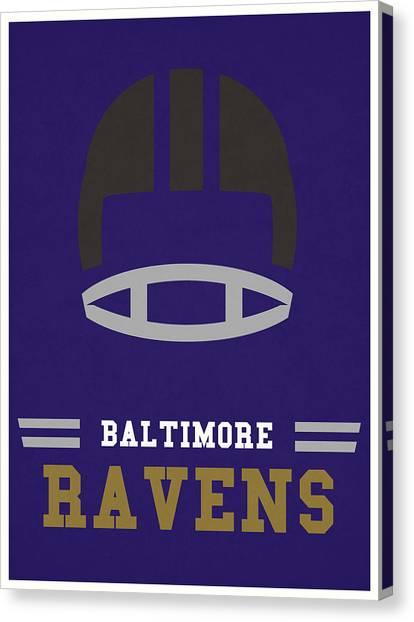 Baltimore Ravens Canvas Print - Baltimore Ravens Vintage Nfl Art by Joe Hamilton