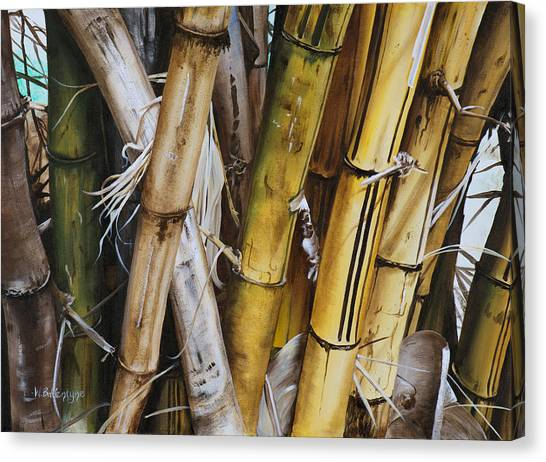 Bamboo Canvas Print - Bamboo Cluster by Wendy Ballentyne