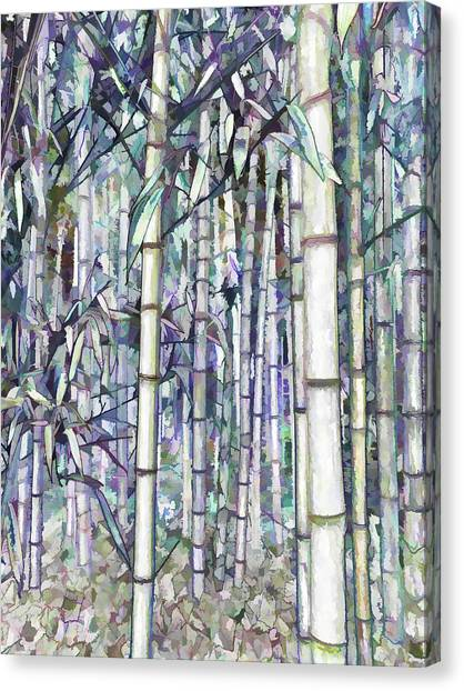 Sagano Bamboo Forest Canvas Print - Bamboo Grove by Jeelan Clark