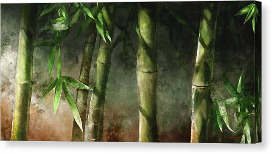 Bamboo Stalks Canvas Print