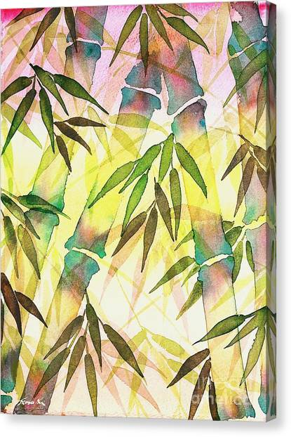Bamboo Sunrise Canvas Print