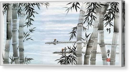 Bamboo Village Canvas Print