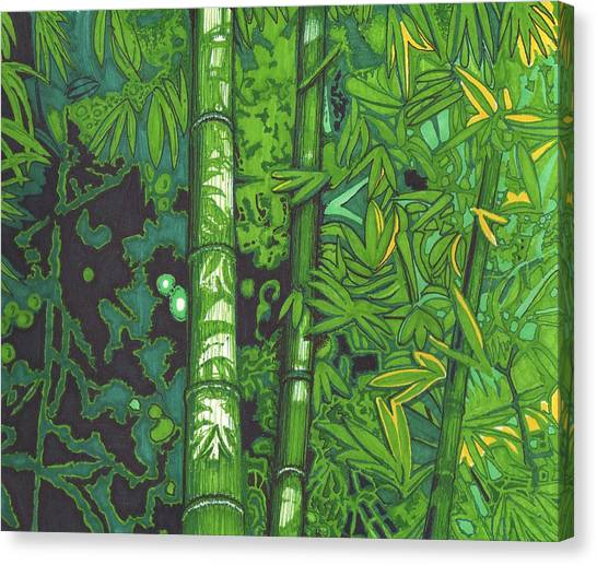 Bamboo Canvas Print by Will Stevenson