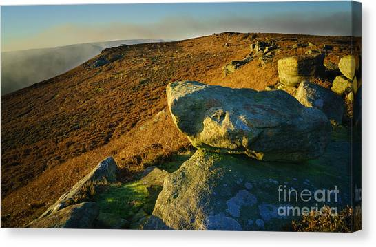 Peak District Canvas Print - Bamford Edge Path by Smart Aviation