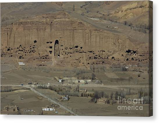 Bamiyan's Empty Alcoves Canvas Print by Tim Grams