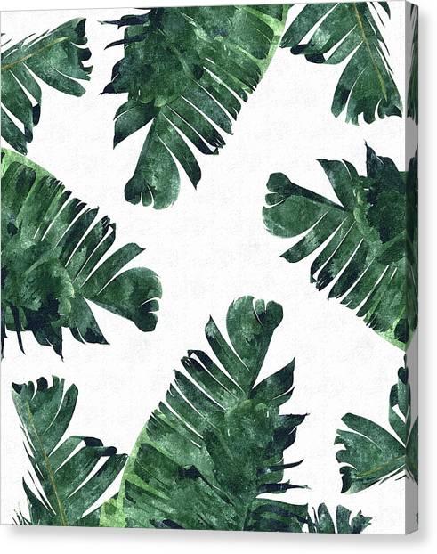 Bananas Canvas Print - Banan Leaf Watercolor by Uma Gokhale