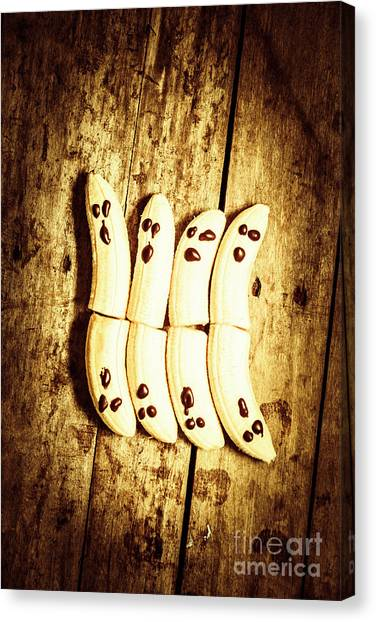Crazy Canvas Print - Banana Ghosts Looking To Split At Halloween Party by Jorgo Photography - Wall Art Gallery