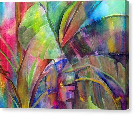 Banana Leaves IIi Canvas Print by Maritza Bermudez