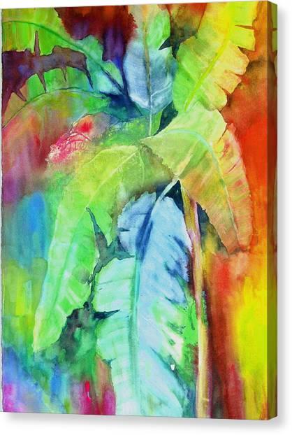 Banana Leaves Canvas Print by Maritza Bermudez