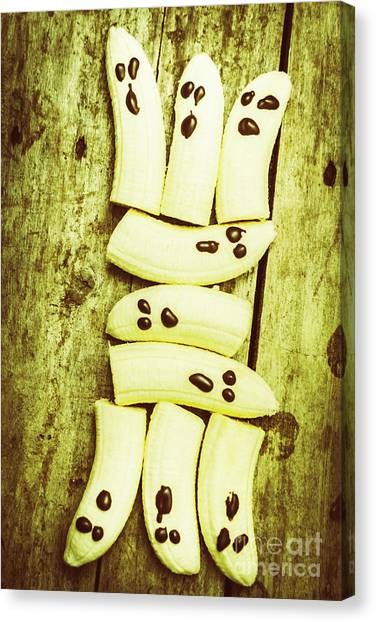 Bananas Canvas Print - Bananas With Painted Chocolate Faces by Jorgo Photography - Wall Art Gallery