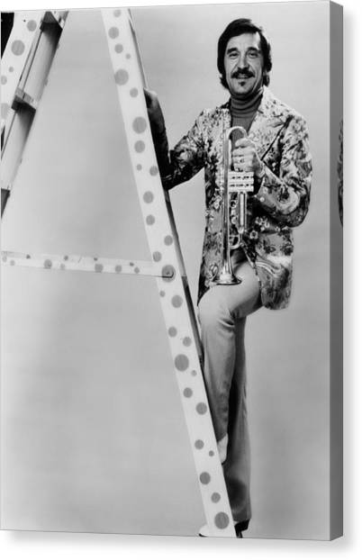 Johnny Carson Canvas Print - Band Leader Doc Severinson 1974 by Mountain Dreams