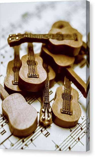 Stringed Instruments Canvas Print - Band Of Live Acoustic Guitars by Jorgo Photography - Wall Art Gallery