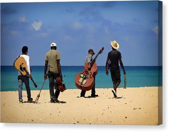 Bongos Canvas Print - Band Of The Beach - Cuba by Gerhard Lipold