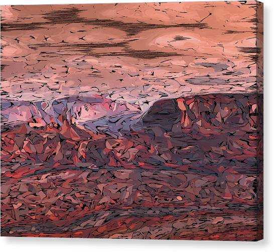 Banded Canyon Abstract Canvas Print