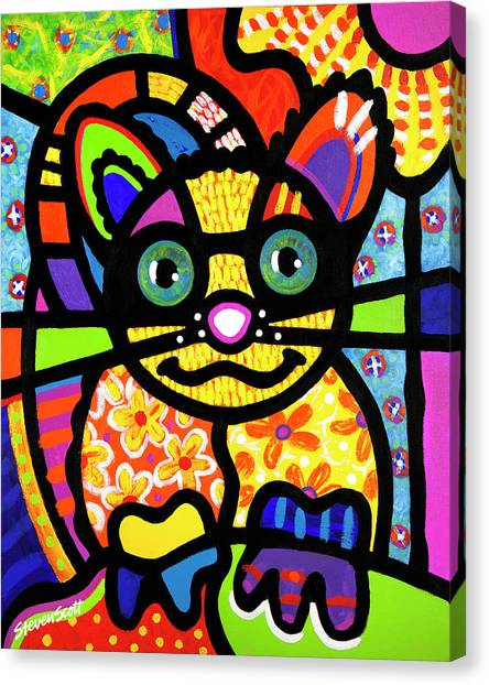 Bandit The Lemur Cat Canvas Print