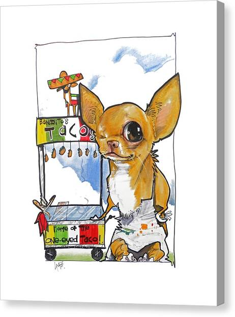 Fast Food Canvas Print - Bandito's Tacos by John LaFree