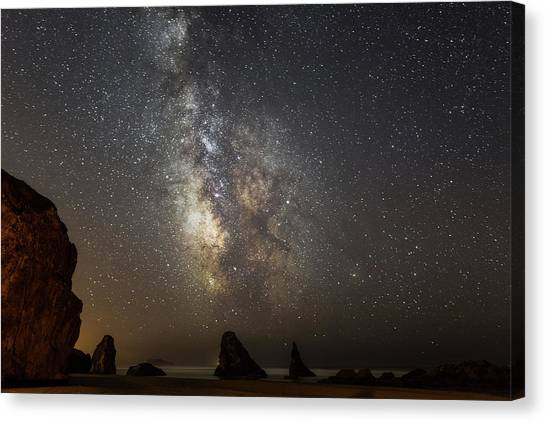 Bandon And Milky Way Canvas Print