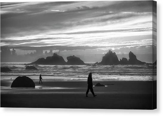 Bandon Beachcombers Canvas Print