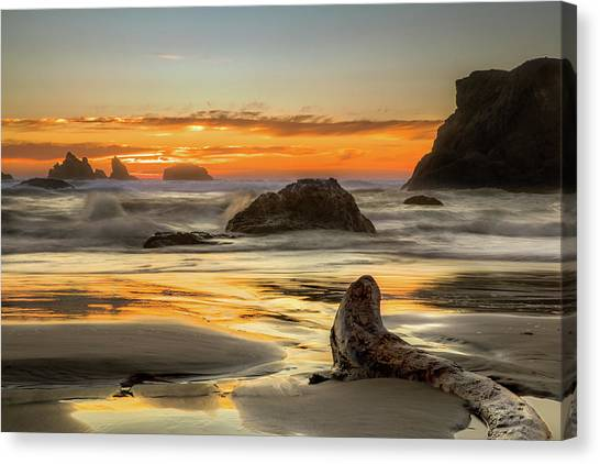 Bandon Orange Glow Sunset Canvas Print