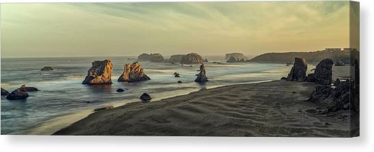 Bandon Sunrise Pano Canvas Print
