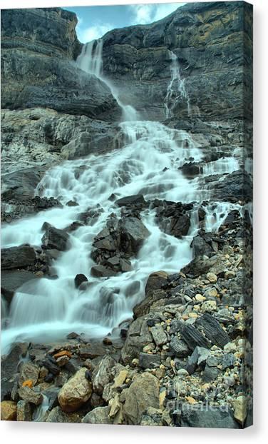Canada Glacier Canvas Print - Banf Bow Glacier Falls Portrait by Adam Jewell