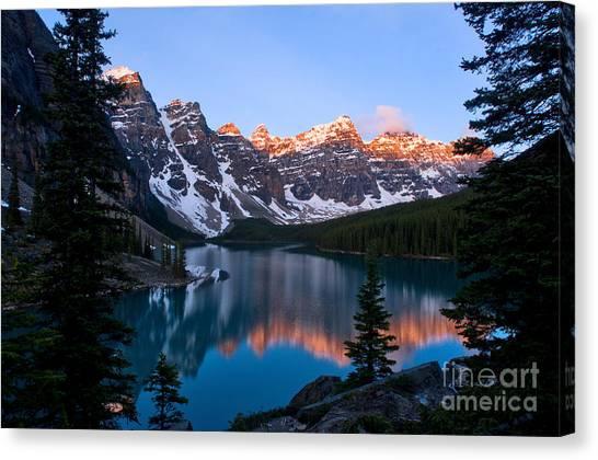 Banff - Moraine Lake Sunrise Canvas Print