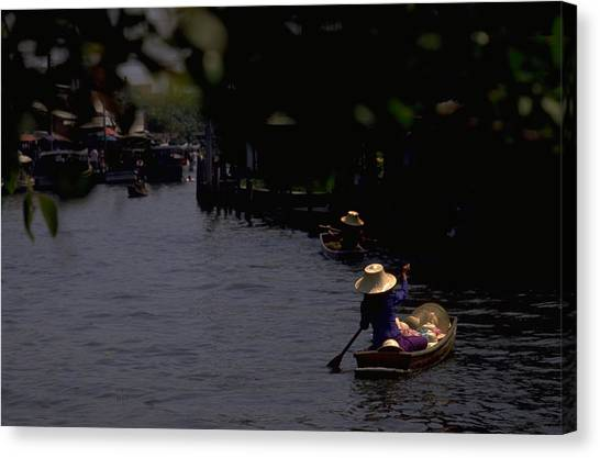 Bangkok Floating Market Canvas Print