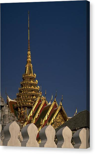 Travelpics Canvas Print - Bangkok Grand Palace by Travel Pics