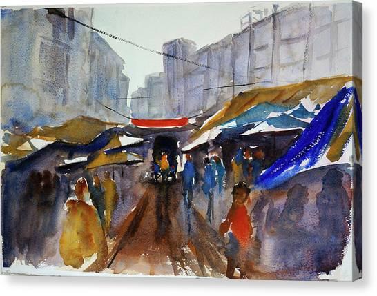 Bangkok Street Market Canvas Print