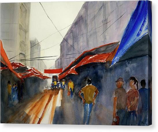 Bangkok Street Market2 Canvas Print