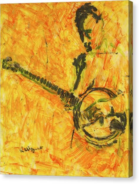 Banjo Player Canvas Print by Richard Wynne