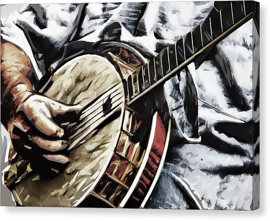 Banjoed Canvas Print by Tilly Williams