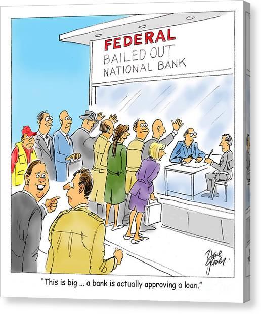 Bank Loans Canvas Print by David Lloyd Glover