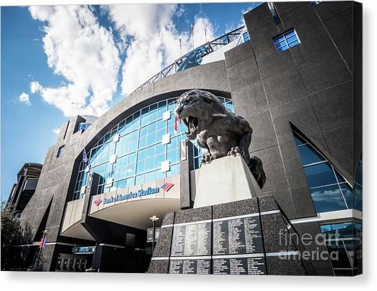 Carolina Panthers Canvas Print - Bank Of America Stadium Carolina Panthers Photo by Paul Velgos