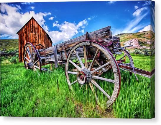 Bannack Wagon Canvas Print