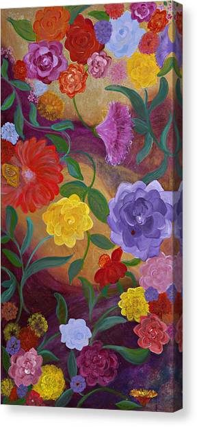 Banner Blossoms Canvas Print by Sabra Chili