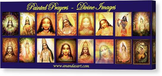 Light Brahma Canvas Print - Banner Painted Prayers by Ananda Vdovic