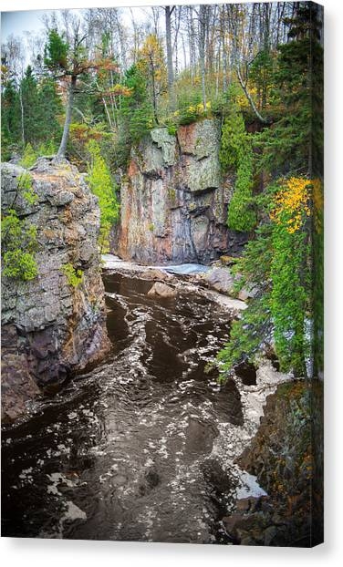Baptism River In Tettegouche State Park Mn Canvas Print
