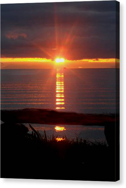 Baptism Sunrise Canvas Print by Barbara Stirrup