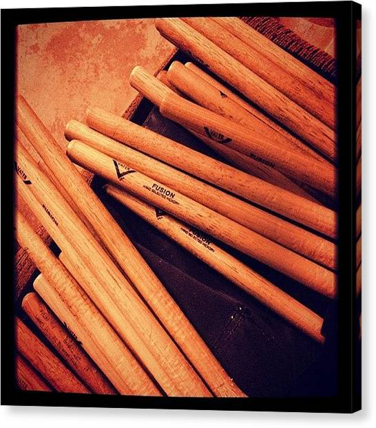 Percussion Instruments Canvas Print - #baqueta #drums #rock #rocknroll #music by Marco Santos