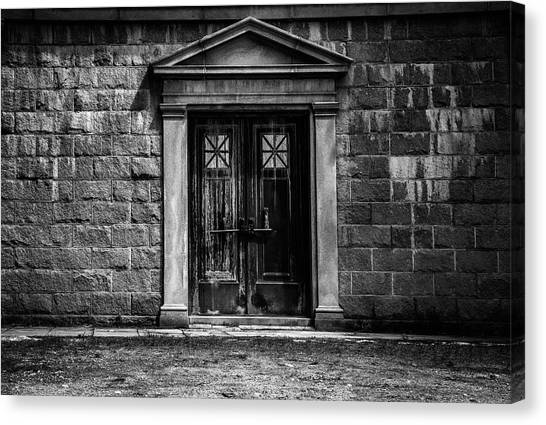 Lock Canvas Print - Bar Across The Door by Bob Orsillo