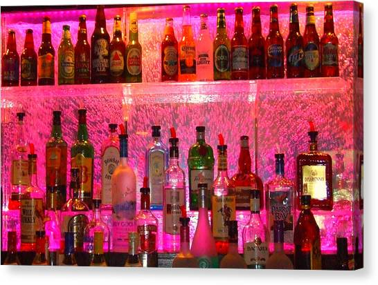 Bar Bubbles In New Orleans Canvas Print