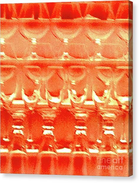 Tequila Sunrise Canvas Print - Bar Glasses 14 by Ken Lerner