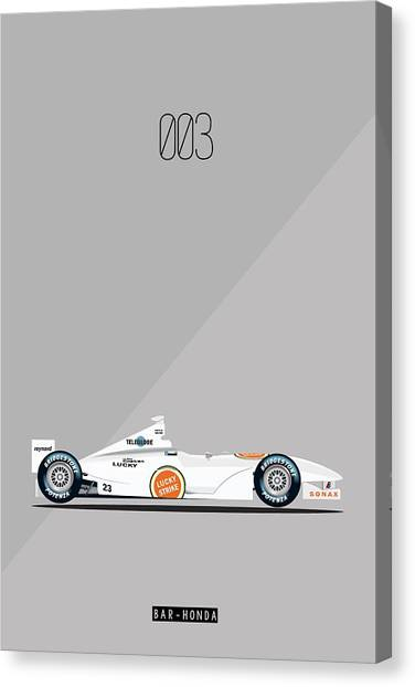 Bar Honda 003 F1 Poster Canvas Print