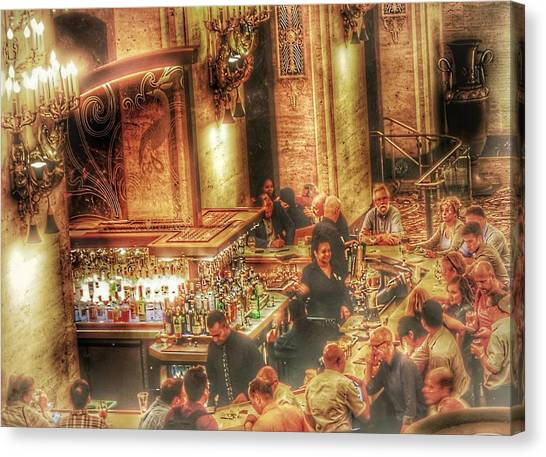 Bar Scene Canvas Print