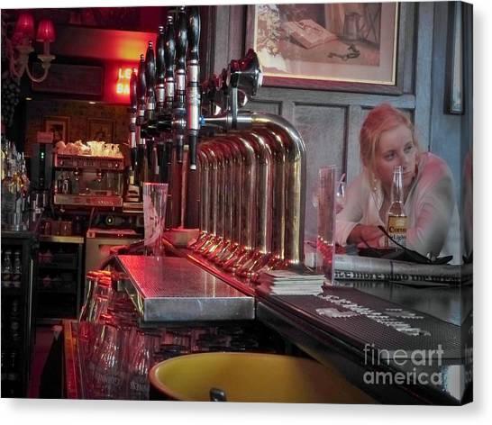 Bar Taps In Kilkenny Canvas Print